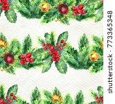 merry christmas seamless... | Shutterstock . vector #773365348