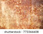 colorful rust stains aged iron  | Shutterstock . vector #773366608