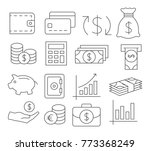 money line icons on white... | Shutterstock .eps vector #773368249