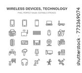 wireless devices flat line... | Shutterstock .eps vector #773369074