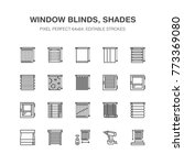 window blinds  shades line... | Shutterstock .eps vector #773369080