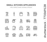 kitchen small appliances line... | Shutterstock .eps vector #773369128
