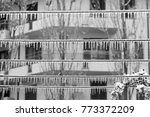 metal wires covered with iced...   Shutterstock . vector #773372209