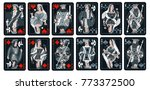 playing cards  classical style  ... | Shutterstock .eps vector #773372500