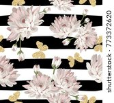 floral seamless pattern.... | Shutterstock .eps vector #773372620