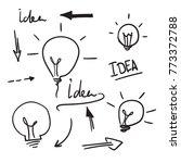 bulb light idea. concept of big ...   Shutterstock .eps vector #773372788