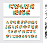 typographic alphabet collection ... | Shutterstock .eps vector #773373748