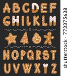 vector cartoon set of alphabet... | Shutterstock .eps vector #773375638