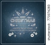 christmas and new year 2018... | Shutterstock .eps vector #773376283