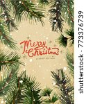 holiday greeting cards  retro... | Shutterstock .eps vector #773376739
