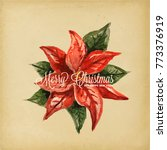 holiday greeting cards  retro... | Shutterstock .eps vector #773376919