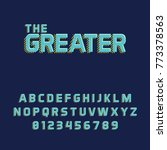 modern smooth typefont vector... | Shutterstock .eps vector #773378563