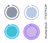 area of a circle concept linear ... | Shutterstock .eps vector #773379139
