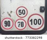 speed limit for motorhome | Shutterstock . vector #773382298