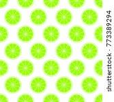 green citrus background of cut...   Shutterstock .eps vector #773389294