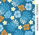 seamless tropical pattern ...   Shutterstock .eps vector #77339092