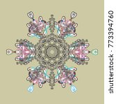 winter snow flakes doodles....   Shutterstock .eps vector #773394760