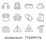 set of work safety line vector...   Shutterstock .eps vector #773399776