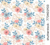 seamless pattern with gentle...   Shutterstock .eps vector #773401933