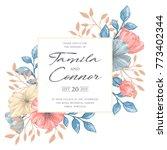gentle vintage romantic floral...   Shutterstock .eps vector #773402344