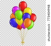 realistic transparent balloons  ... | Shutterstock .eps vector #773404948