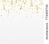 christmas golden confetti with... | Shutterstock .eps vector #773405734