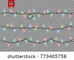 christmas festive lights....   Shutterstock .eps vector #773405758