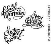 good morning lettering text.... | Shutterstock .eps vector #773406169