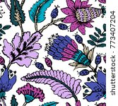 seamless pattern with fantasy... | Shutterstock .eps vector #773407204
