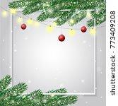 festive cute christmas... | Shutterstock .eps vector #773409208