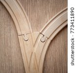 fork in the road. a wooden toy... | Shutterstock . vector #773411890