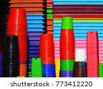 pile of plastic pot | Shutterstock . vector #773412220