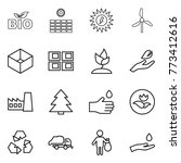 thin line icon set   bio  sun... | Shutterstock .eps vector #773412616