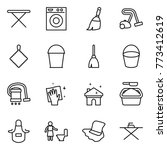 thin line icon set   iron board ...   Shutterstock .eps vector #773412619