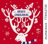 christmas background design.... | Shutterstock .eps vector #773412730