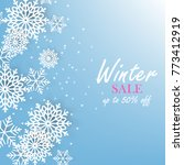 winter christmas snowflake... | Shutterstock .eps vector #773412919