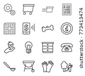 thin line icon set   gear ... | Shutterstock .eps vector #773413474