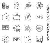 thin line icon set   coin stack ... | Shutterstock .eps vector #773413534
