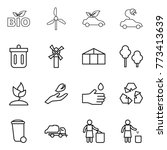 thin line icon set   bio ... | Shutterstock .eps vector #773413639