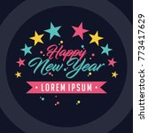 colorful happy new year... | Shutterstock .eps vector #773417629