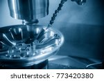 the cnc milling machine or... | Shutterstock . vector #773420380