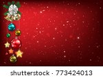 abstract red background with... | Shutterstock .eps vector #773424013
