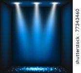 abstract dark blue background.... | Shutterstock .eps vector #77343460
