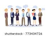 business people with speech...   Shutterstock . vector #773434726