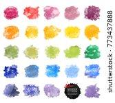 vector watercolor background.... | Shutterstock .eps vector #773437888