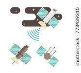 satellite flat vector... | Shutterstock .eps vector #773439310