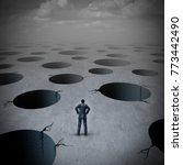 pitfall concept as a vulnerable ... | Shutterstock . vector #773442490