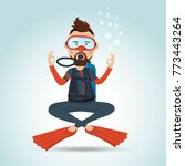 character design  scuba diver... | Shutterstock .eps vector #773443264
