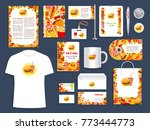 fast food restaurant corporate... | Shutterstock .eps vector #773444773