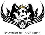 healdic black wolf soccer coat... | Shutterstock .eps vector #773445844